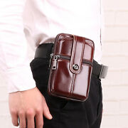 New Genuine Leather Mens Wallet Pouch Belt Clip Cell Phone Holder For Iphone Xr