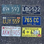 Vintage Usa License Plates Antique Collectible Vanity Your Choice 18 Each