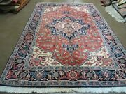 6and039 X 9and039 Vintage Hand Made Indian Medallion Wool Rug Veg Dyes Nice M702