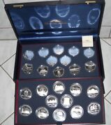 France 2005 Very Rare Set 24 Coins Silver 150th Anniversary Of The 1855 Bordeaux