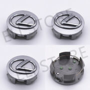 Lexus 62mm Silver Base Chrome Logo Wheel Rim Hub Center Caps 42603-30590 4pcs