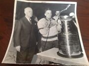 Ted Lindsay 1955 Detroit Red Wings Nhl Hockey Photo Lions Pistons Tigers