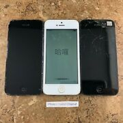 Icl/wonand039t Activate/doa Lot Of 3 Apple Iphone 5   16gb   Space Gray/silver