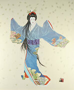 Lady Of The Golden Blossoms By Hisashi Otsuka Signed Ltd Edition Silkscreen