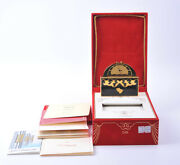 Mint 1997 Teatro Limited S.t.dupont Black Chinese Lacquer Secret Carriage Clocks