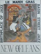 George Luttrell New Orleans Jazz Printsigned Pencil