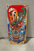 Williamand039s Funhouse Pinball Machine Playfield - Used With Overlay