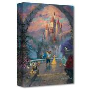 Disney Fine Art James Coleman Beast And Belle Forever Limited Edition Canvas