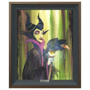 Disney Fine Art Fishwick Maleficent The Wicked Framed Limited Edition Canvas