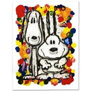 Everhart Wait Watchers Signed Limited Edition Peanuts Lithograph Coa