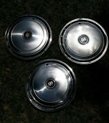 Vintage Buick Hubcaps...stainless 15 - Lot Of 3