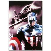 Marvel Comics Limited Edition Captain America 11 Numbered Canvas Art