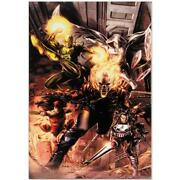 Marvel Comics Numbered Limited Edition Heroes For Hire Canvas Art