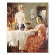 Pino Sharing Moments Cp Artist Embellished Limited Edition On Canvas Coa