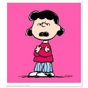 Peanuts Lucy Pink Numbered Limited Edition Animation Art