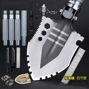 Outdoor Survival Tactical Folding Camping Shovel With Battle Axe Multitool 0322