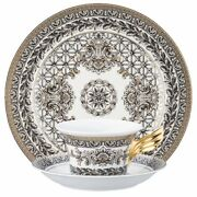 Versace By Rosenthal,germany 25 Years Marqueterie Tea Cup, Saucer, Dessert
