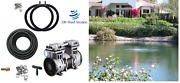 Large Pond Aerator System W/50' Poly Tube And 2-48 Diffusers 3+cfm New 1/2hp Pump