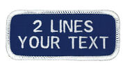 2 Line Work Shirt-personalized And Embroidered Identification Patches-custom Made