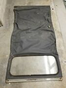 Vintage 1960s Or 70s Citreon Vynl Roof Top Convertible Cover Good Glass 6az