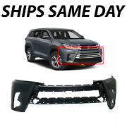 New Primered Front Bumper Cover Replacement For 2017 2018 2019 Toyota Highlander