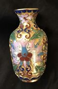 Hand Painted Minature Vase Enamel-gold And Jade Green Check Photos .