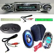 1965 Impala Bel Air Radio + Stereo Dash Replacement Speaker + 6x9and039s 630 W Ac