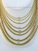 10k Yellow Gold Miami Cuban Link Necklace 2mm-9mm Necklace And Bracelet 7-30 Real