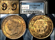 Elite Varieties Canada Large Cent 1899 Repunched 9/9 Pcgs Ms63 A438