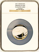Canada 2011 25 Toronto City Map Ngc Pf69 2oz Silver Coin Royal Canadian Mint