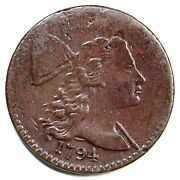 1794 S-57 Blundered Edge Liberty Cap Large Cent Coin 1c