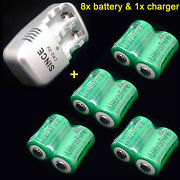 1pc Charger + 8pc Ultrafire Cr2 3v 800mah Li-ion Rechargeable Battery Batteries