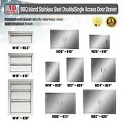 Multi-size Bbq Double Single Doors Drawer Outdoor Kitchen Stainless Steel Access
