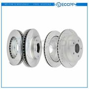 Front And Rear Brake Disc Rotors For Chevy S-10 Blazer 1998-2003 Drilled Slotted