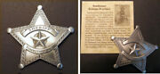 Tombstone Arizona Territory Sheriff Badge Boxed Star Silver Old West Western