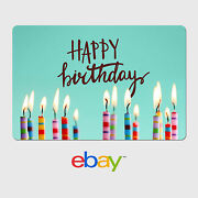 Ebay Digital Gift Card - Happy Birthday Candles - Email Delivery