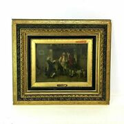 Original Oil On Canvas By Louis Georges Brillouin 1817-1893