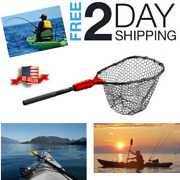 Kayak Fishing Net Rubber Landing Float Small Boat Light Weight Lure Durable Tool