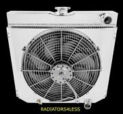 4 Row Radiator W/ Shroud And 16 Fan 67-70 Mustang Many Ford Cars 20 Wide Core