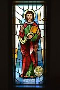 + Nice Older Stained Glass Church Window + St. John + 52 Of 58 Chalice Co.