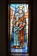 + Nice Older Stained Glass Church Window + St. Anne + 56 Of 58 Chalice Co.