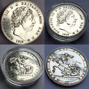 Rare Uncirculated 1819 George Iii Milled Silver Crown In Investment Condition
