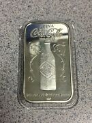 Coca Cola Evansville Indiana Type I Sterling Silver Bar 75th Anniversary