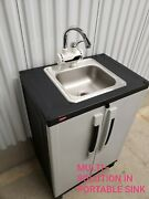 Portable Sink Self Contained W/ Faucet Tankle Instant Hot Wather 110v