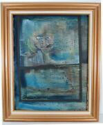 Vincent Frazzini Original Abstract Painting 1970s Lead Singer Of Fabulous Epics