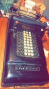 Vintage Burroughs Mechanical Adding Machine Class-3 Number 3-749812