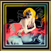 Steve Kaufman Oil Painting On Canvas Actress Jean Harlow Hand Signed Artwork Sbo