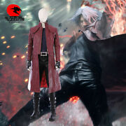 Dfym Devil May Cry Cosplay Dmc 5 Dante Costume Leather Jacket Halloween Outfit
