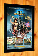 King Of Kings 3 Video Game Rare Small Poster / Ad Page Framed