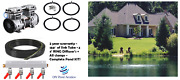 New Large Pond And Lake Aerator System-150' Sink Hose/ 4 Diffusers Valve 2yr Wty